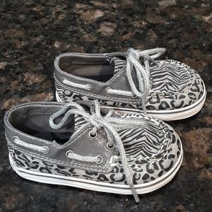 Baby Sperry Top-Siders Sz US 3M Animal Print EUC